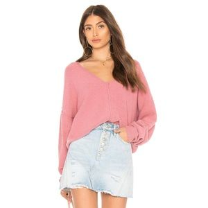 Free People Take Me Places Pink Pullover